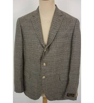 "M & S  Size: L, 42"" chest, tailored fit Brown, Blue & Pearl Mix  Casual/Stylish Italian Linen Single  Breasted Blazer"