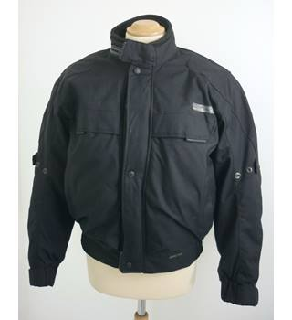 "Rev'it  Size: S, 36"" chest Black Motorcycle/Racing ""Tempo""  Armoured Nylon Textile Jacket"