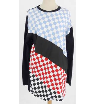 ASOS Size 10 Multi-coloured Checked Pattern Top