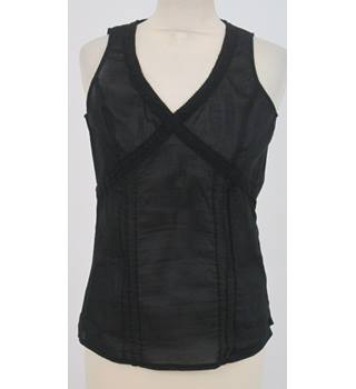 BNWT Steilmann Size 8 Black Sleeveless top
