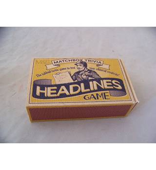 Marks & Spencer Matchbox Trivia - Headlines Game