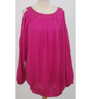 Saviour - Size: 16 - pink cold shoulder top