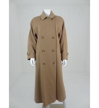 Windsmoor Size 14 Camel Beige Wool and Cashmere Blend Coat