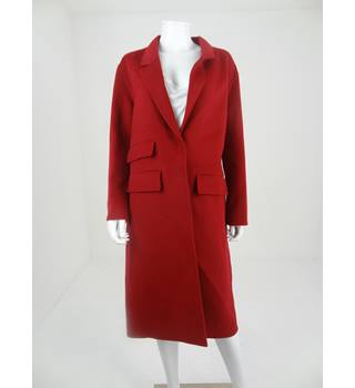 M&S Autograph Size 12 Cherry Red Wool Blend Coat