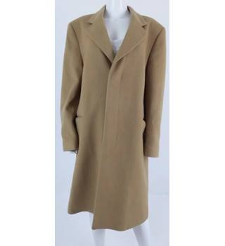 Dunn & Co Size L Vintage Camel Brown Cashmere Trenchcoat