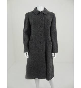 Vintage 1980's Size 20-22 Smokey Blue Wool Coat