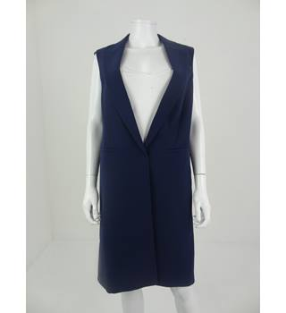Autograph by M&S Size 12 Navy Sleeveless Jacket