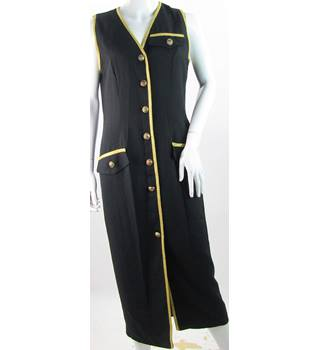 Rumor's of Los Angeles - Size M - Navy blue with golden trim and anchor pattern buttons dress