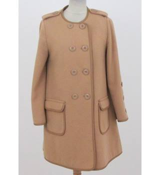 Mint Velvet, Size: 10, caramel wool mix coat