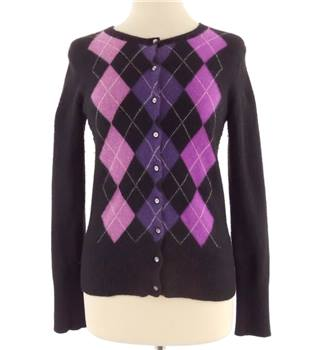 Apt.9 Size Small Black Cashmere Cardigan with patterned front