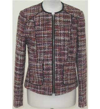 NWOT TU size: 12 purple/pink/white checkered casual jacket