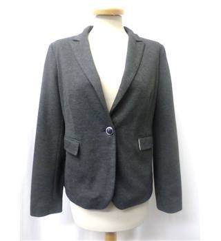 Betty Jackson Black - Size: 12 - Soft touch grey - Fully lined jacket