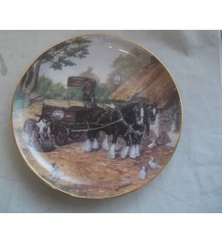 Vintage Danbury Mint Dick Twinney The Delivery The Magnificent Shires Plate