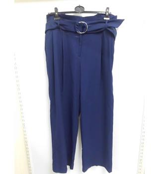 women's M&S Marks & Spencer - Size: L - Blue - Trousers