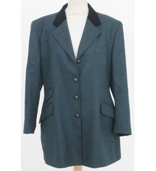Austin Reed - size: 16, green and black smart jacket/coat