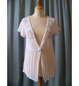 Soon - Size: 12 - White - Cardigan