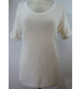 Gap - Size: XS - White and Pink - Ladies' short-sleeved Jumper