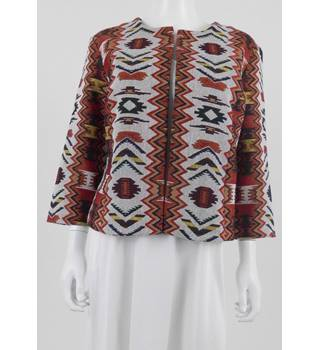 Bonmarche Size 16 Multicoloured Geometric Pattern Jacket
