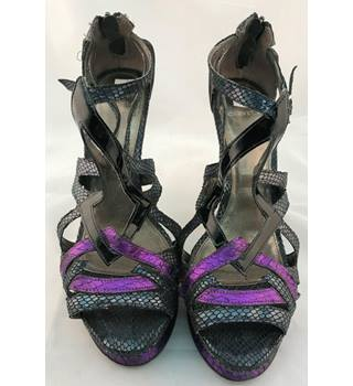 Carvela - Size 8 - Purple and Black - Platform Heels