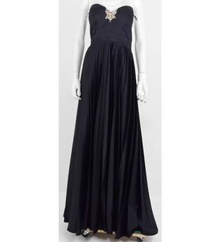 Ultimo Couture Size 12 Black Satin Strapless Ball Gown