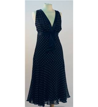 Ted Baker - Size 14 - Black/White Spot - Dress