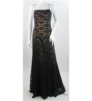 Flori Design - Size: 6 - Black/Copper Brown - Full length dress