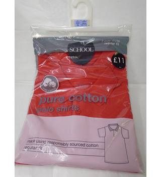 M&S Marks & Spencer - Size: 13 - 14 Years - Red - Polo shirt (L10)