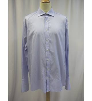 "Sartorial - Collar Size: 17.5"" - Blue and White - Long sleeved Shirt"