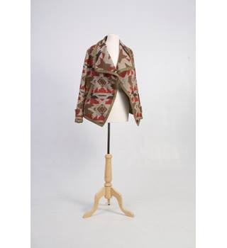 Apricot sizem waterfall Jacket aztec design apricot - Size: M - Brown - Casual jacket / coat