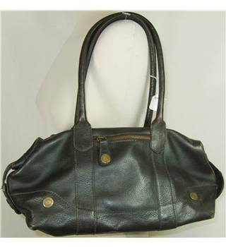 GAP dark brown leather handbag