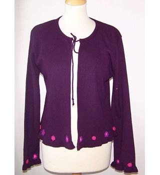 Today's Woman - Size: 14 - Purple - Cardigan