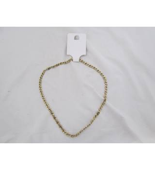 Faux Gold Chain Necklace Unbranded - Size: Medium - Metallics