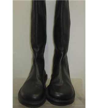 Brand New Fly, size 3.5/36 black leather knee high boots