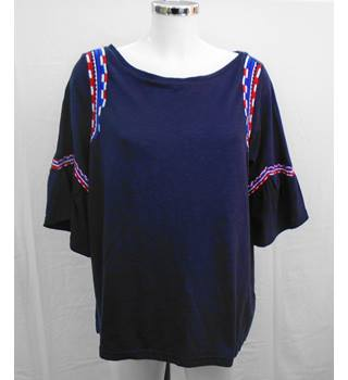 BNWOT M&S navy top Size 16