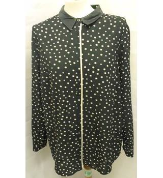M&S Limited Edition - Size 16 - Black with white dots shirt