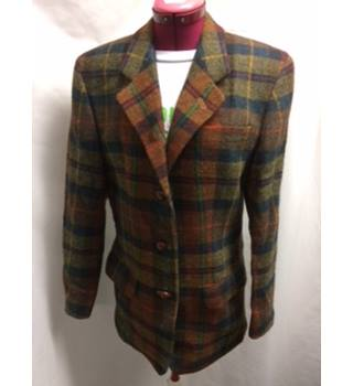 DAKS Signature checked blazer with elbow patches DAKS - Size: 10 - Multi-coloured