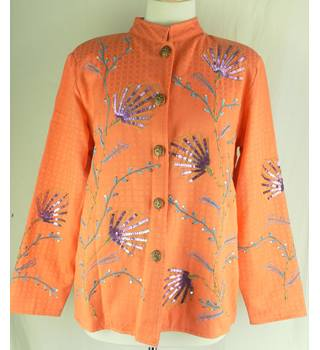Coral coloured detailed jacket Indigo Moon - Size: M - Orange - Smart jacket / coat