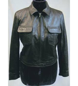 GAP brown leather trucker style jacket size L/G Gap - Size: L - Brown - Casual jacket / coat