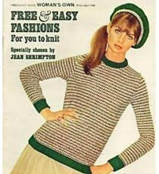 Jean Shrimpton's choice of free & easy fashions for you to knit White