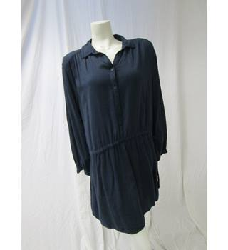 Staring At Stars Size L Blue Striped Dress Staring At Stars - Size: L - Blue