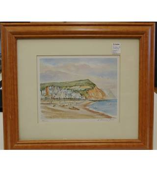 K. Brinley Jones - Limited edition print - Sidmouth Cliffs