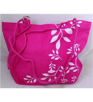 Pink canvas tote