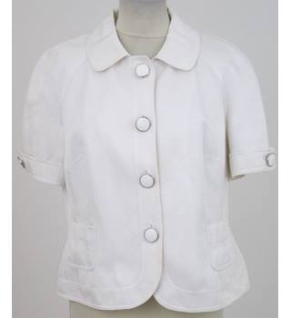 Principles - Size: 16 - White Short Sleeved jacket