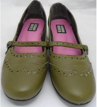 Vegetarian Shoes - EU Size 40 - Olive Green - Mary Jane Shoes