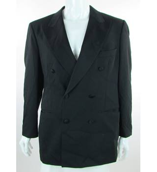 "St Michael M&S - Size: 40"" - Black - Double Breasted Dinner Jacket"