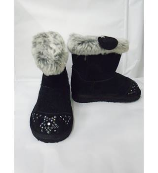 M&S Marks & Spencer - Size:junior 7 - Black - light up Boots (L10)