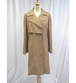 Agnona - Size: EU 46 - Brown - Leather - Smart jacket / coat