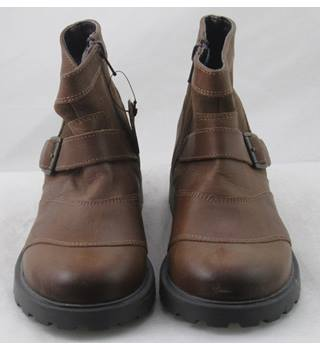 M&S Kids, size 2/34 brown leather & suede ankle boots