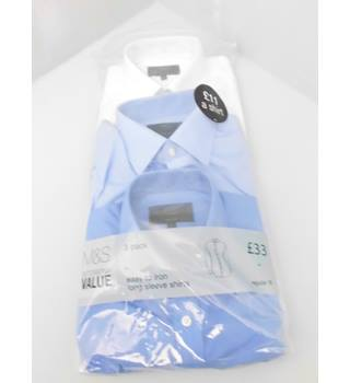 "3  M&S Collection Size 16"" Collar Shirts"