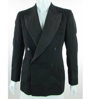 "F.T. Sageman & Son - Size: 42""  - Black - Double Breasted Dinner Jacket"